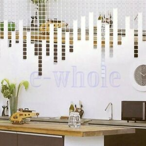 100x Modern Wandbild Wanddeko Aufkleber 2cm Quadratisch Diy Spiegel