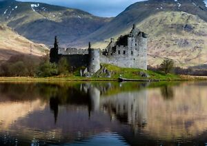 A3-Beautiful-Kilchurn-Castle-Poster-Print-Size-A3-Loch-Awe-Poster-Gift-15820