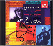 Simon RATTLE Signiert RODRIGO TAKEMITSU ARNOLD Julian BREAM CD Guitar Concerto