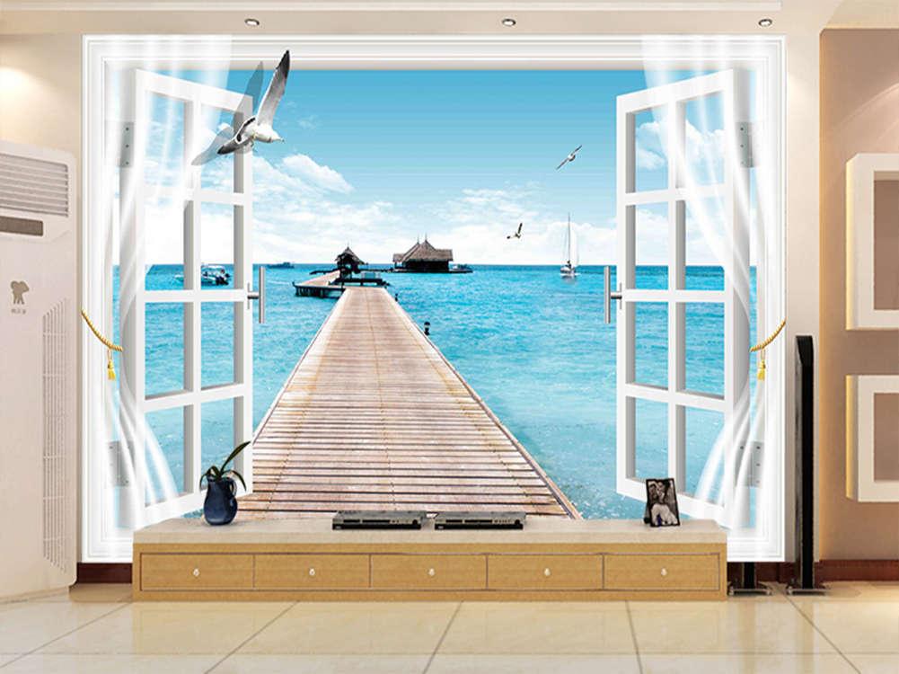 Enormous Windy Scene 3D Full Wall Mural Photo Wallpaper Printing Home Kids Decor