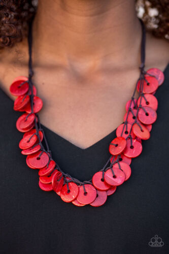 Paparazzi Necklace Jammin in Jamaica Red