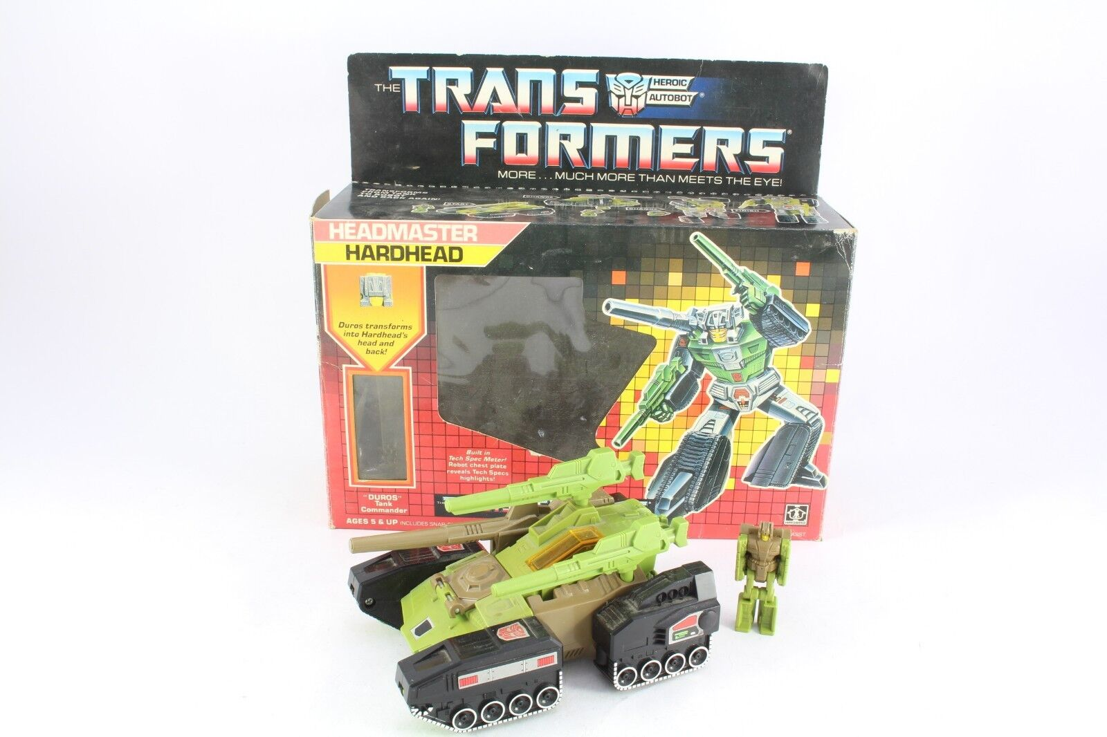 Transformers G1 Hardhead Duros Boxed Complete Headmasters Complete