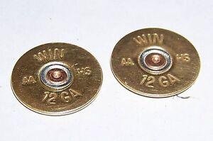 WINCHESTER-Thin-Cut-POLISHED-LOT-OF-10-12-Gauge-Shotgun-Shell-Heads