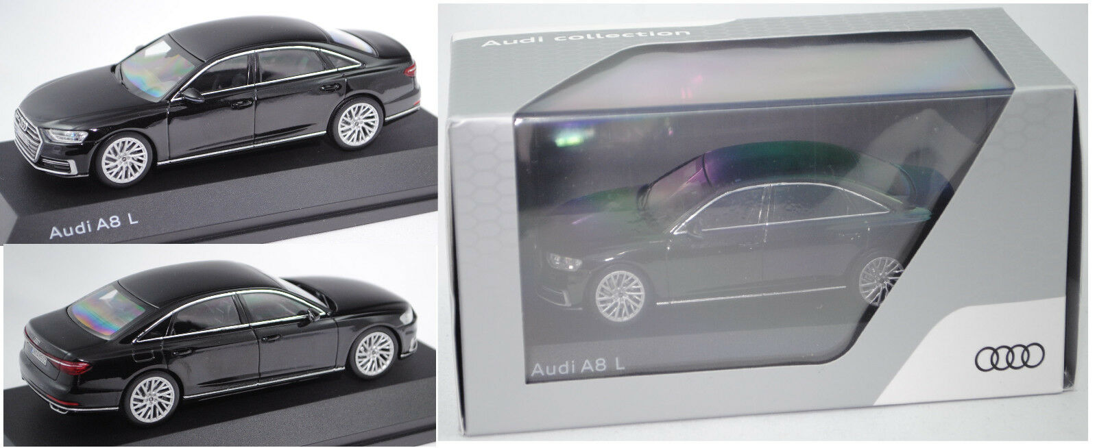 IScale 5011708132 Audi Audi Audi A8 L, schwarz, 1 43, Werbeschachtel 030085