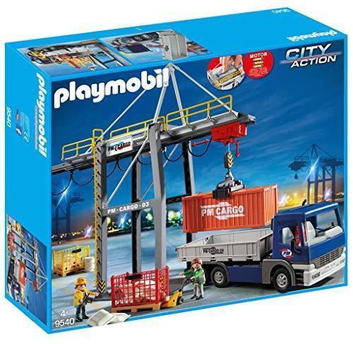 Playmobil 9540 City Action Gru di carico elettrica con Camion (s8J)
