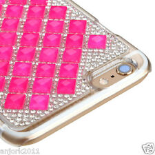 """iPhone 6 Plus (5.5"""") Snap Fit Back Cover 3D Bling Gem Case Hot Pink Diamond"""