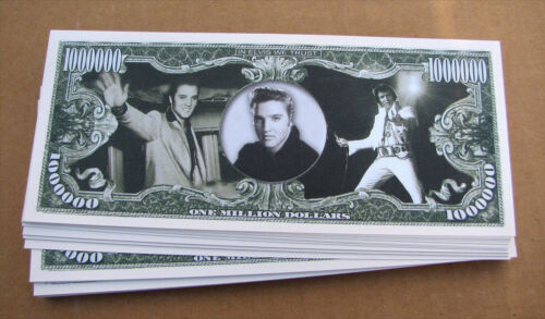 LOT OF 10 Elvis Presley MONEY FAKE WHOLESALE LOT MILLION DOLLAR BILLS  FREE SHIP