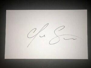 1997 ROYALS: Jose Santiago, SIGNED 3x5 Card (JS)