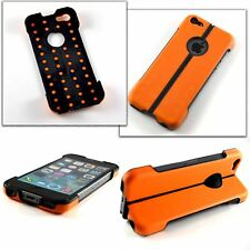 Apple iPhone 5, 5S & SE Hybrid Stand Case Extreme Tough Rugged Outdoors Orange