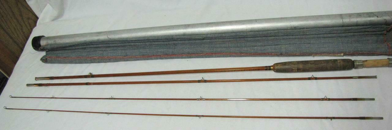 VINTAGE GENUINE HEDDON BAMBOO FISHING POLE WITH 2 TIPS