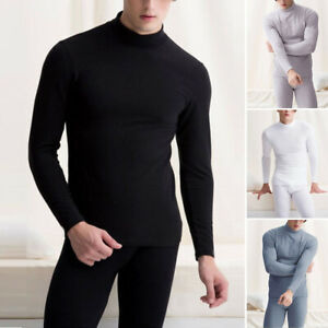 Hommes-Hiver-Sous-Vetements-Thermique-Long-Slip-Pantalon-Tops-Lot-Slim-Fit-Doux