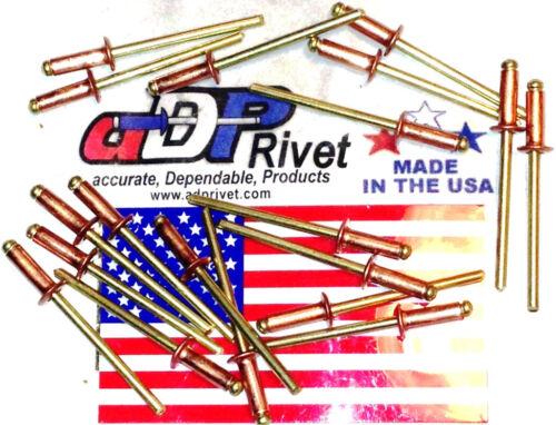 "Copper /& Brass #44 pop blind rivet 1//8/""x1//4/"" dome head BUY 500 US Made rivets"