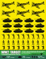 Ww2 Combat Paper Targets Classic Shooting Game For Rifles & Handguns 25 Pack