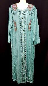 Abaya Maxikleid Kaftan Jellabiya Samtkleid Mantel Hijab Khimar Takschita Gr L