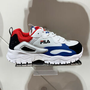 New FILA Mens RAY TRACER TR WHITE / RED
