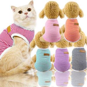 Pet-Dog-Clothes-Summer-Tank-Top-Shirt-Vest-Stripe-Puppy-Cat-Coat-Apparel-Costume