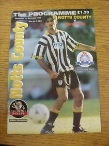 01111995 Notts County v Brentford  Good Condition - <span itemprop=availableAtOrFrom>Birmingham, United Kingdom</span> - Returns accepted within 30 days after the item is delivered, if goods not as described. Buyer assumes responibilty for return proof of postage and costs. Most purchases from business s - Birmingham, United Kingdom