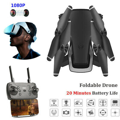 HDRC Foldable WIFI FPV Drone With 1080P HD Camera 2.4G APP RC Quadcopter 20 Mins