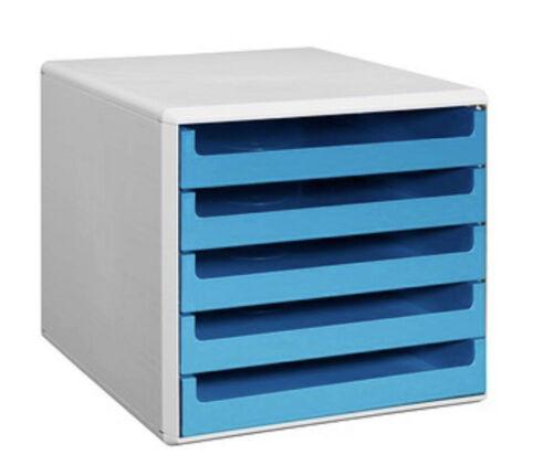 Schubladenbox türkis mit 5 Schubladen Box AblagesystemAblageboxBriefablage