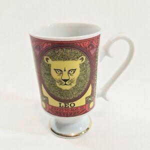 Vintage-Leo-Mug-Royal-Crown-Arnart-Smug-Mugs-Zodiac-by-Elena-2810-Red-Gold