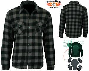 Australian-Bikers-Gear-Motorcycle-Flannel-Lumberjack-shirt-lined-DuPont-KEVLAR