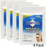 Wellpatch Migraine & Headache Cooling Patch 4 Pack - 16 Patches Lasts 12 Hours