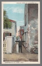 [50982] OLD POSTCARD TREASURY STREET (THE NARROWEST) IN ST. AUGUSTINE, FLORIDA