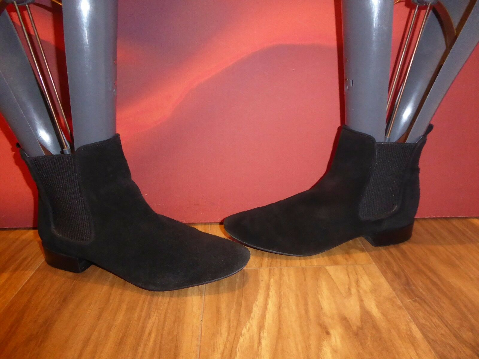 3 ZARA BLACK LEATHER SUEDE CHELSEA STYLE ANKLE BOOTS  EU 36 UK 3