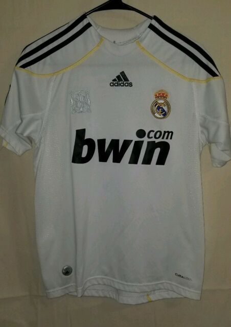 5f2dec42b Youth Size L Adidas Real Madrid Ronaldo Soccer Jersey Clima Cool 365 bwin