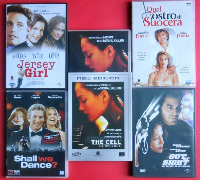 5 dvd jennifer lopez jersey girl the cell la cellula shall we dance out of sight