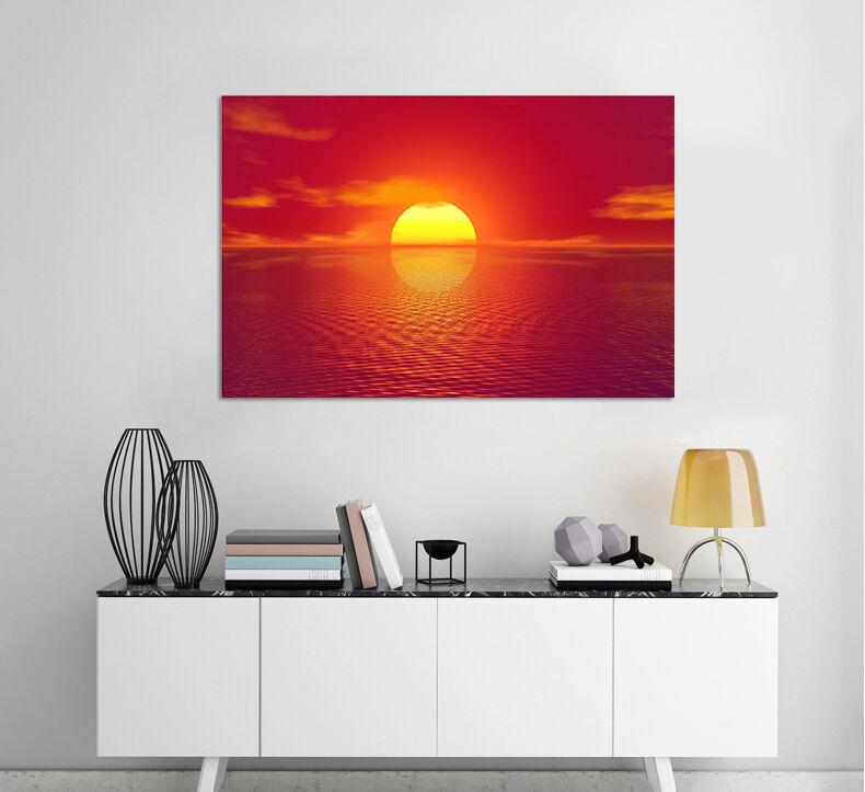 3D Meer rote Sonne Fototapeten Wandbild Fototapete BildTapete Familie AJSTORE DE