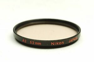 Ship-in-24-Hours-Nikon-Black-Rim-Screw-In-Mount-A2-Amber-52mm-Lens-Filter