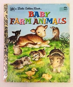Vintage-1979-Little-Golden-Book-BABY-FARM-ANIMALS-16th-Printing