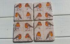 Robin Redbreast Stone Coasters