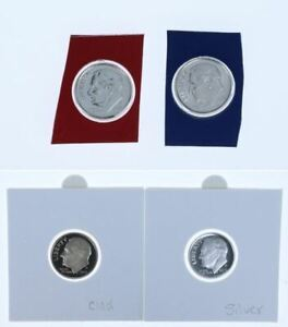 ROOSEVELT DIMES  2019 P-D-S PROOF /& S SILVER PROOF... ALL 4