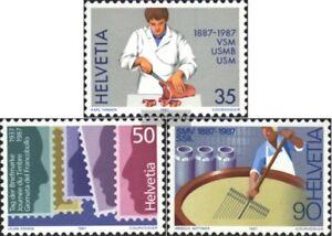 Schweiz-1351-1353-kompl-Ausg-gestempelt-1987-Jahresereignisse
