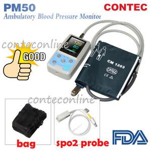Moniteur-patient-portatif-de-PM50-signes-vitaux-NIBP-SPO2-metre-de-frequence