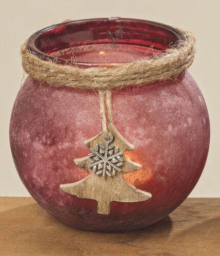 Motive Windlicht Marta Glas Marsala gefrostet Teelicht Weihnachten versch