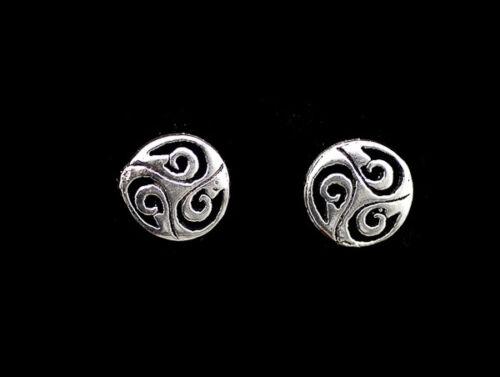 Boucles Oreilles Noeud Celte Triskell en Argent massif 925 Celtique  K77B