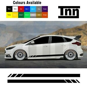 Side-Stickers-Decals-Vinyl-Stripes-For-Ford-Focus-Fiesta-ST-RS-Mk3-MK2