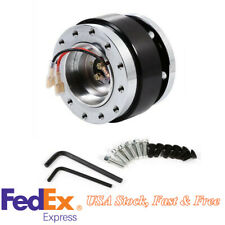 Black Quick Release Hub Adapter Snap Off Boss Kit For Car 6 Hole Steering Wheel