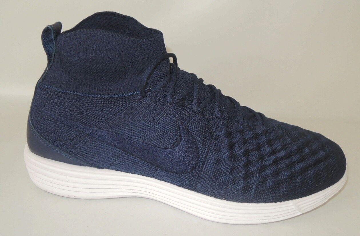 NEU Nike Lunar Magista II Flyknit Gr. 43 Socken Sneaker Schuhe 852614-401 blau