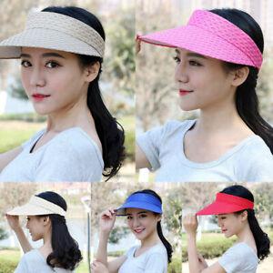 Women-Outdoor-Casual-Cap-Visor-Hat-Summer-Wide-Brim-Beach-Bohemia-Sun-Fashion