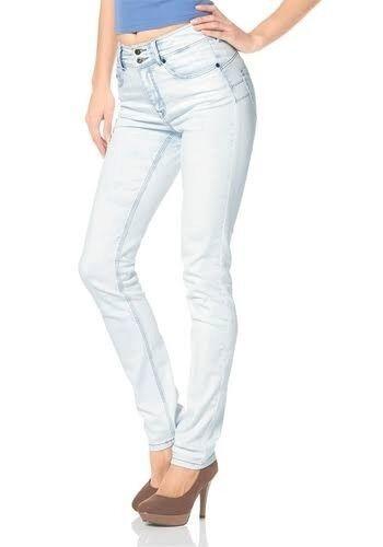 Arizona Straight Jeans NEU Gr.34,36,44 Damen Gerade Stretch Denim Weiß Hose L32