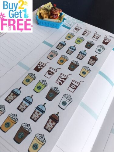 S227-Starbucks Coffee,Ice Coffee,Hot Coffee,Coffee:Planner Stickers Erin Condren