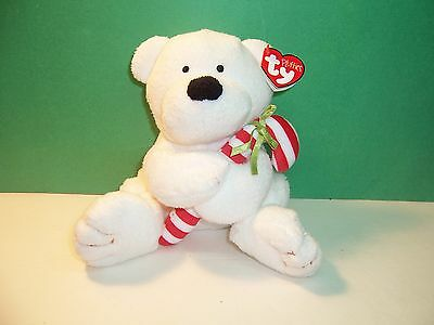 TY CANDY CANE the BEAR  PLUFFIES MINT with MINT TAG
