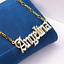 thumbnail 23 - Personalized FINE Sterling Silver 14K Gold ANY Name Plate Necklace + Free Chain