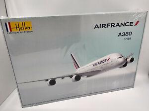 Avion-Airbus-A380-Air-France-Maquette-a-monter-Heller-France-neuve-echelle-1-125