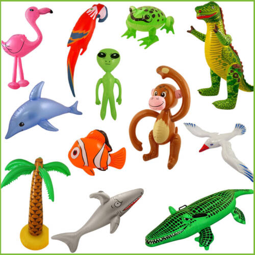 Fun Inflatable Animals Kid/'s Birthday Fancy Dress Party Animals Fishes Gift Toy