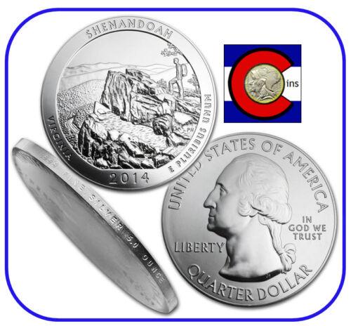 2014 Shenandoah VA 5 oz Silver America the Beautiful (ATB) Coin in airtite